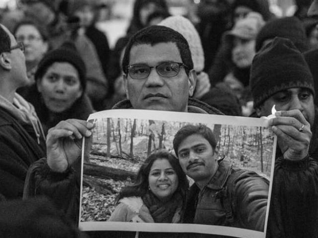 IAFPE President Sonali Lappin Holds Vigil in Honor of Hate Crime Victim Srinivas Kuchibhotla