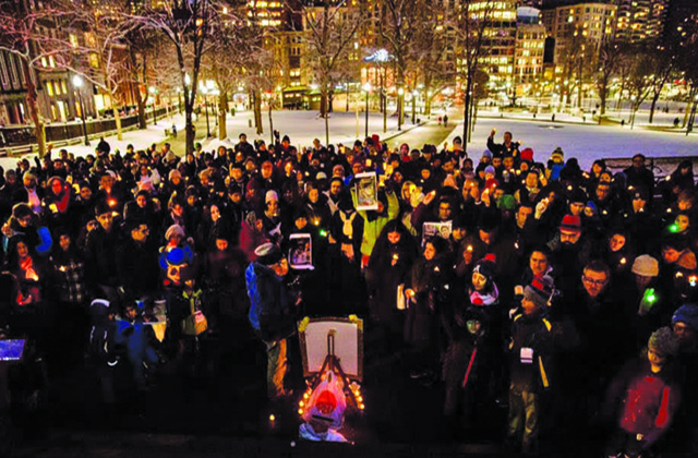 Over 350 attend vigil in Boston in memory of Srinivas Kuchibhotla